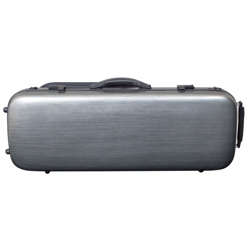 Viola Polycarbonate Oblong Case - Brushed Silver
