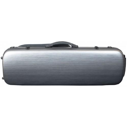 Violin Polycarbonate Oblong Case - Brushed Silver