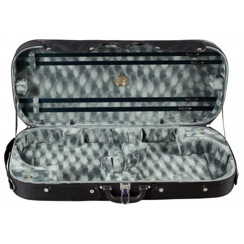 Violin Double Wooden Arched Top Case